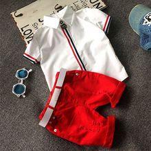 Alta calidad ropa de Niños sets Bebé muchachos de las muchachas camisetas + shorts pantalones deportes traje ropa de los cabritos(China (Mainland))