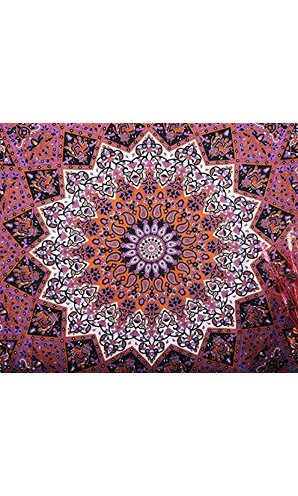Kayso Hippie Star with Psychedelic Sun Moon Bohemian Mandala Tapestries Throw Queen Bedspread Best Price