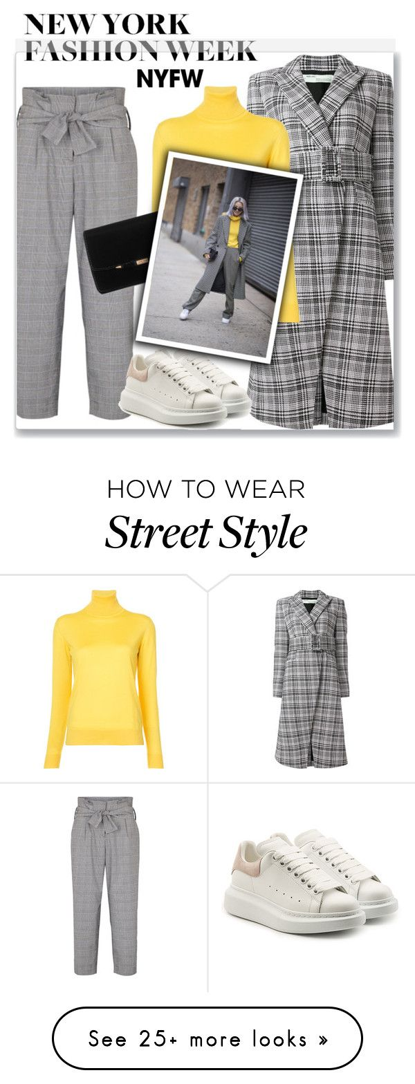 """NYFW Style"" by hellodollface on Polyvore featuring Off-White, Ralph Lauren Collection, Alexander McQueen, contestentry and nyfwstreetstyle"