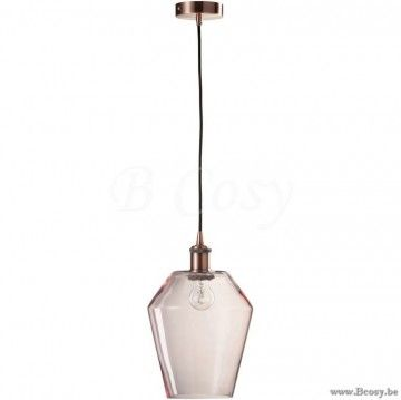 J-Line Lamp DiamAntiek Glas Roze Jline-by-Jolipa-71628