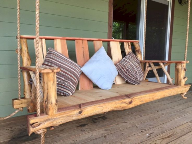 Awesome 36 Cozy Rustic Porch Swing Ideas for Your Backyard https://homeylife.com/36-cozy-rustic-porch-swing-ideas-backyard/