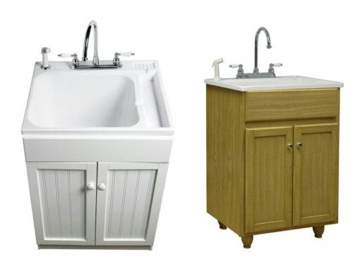 Laundry Tub Cabinet Nice Way To Dress Up Your Laundry Tub Doing This In