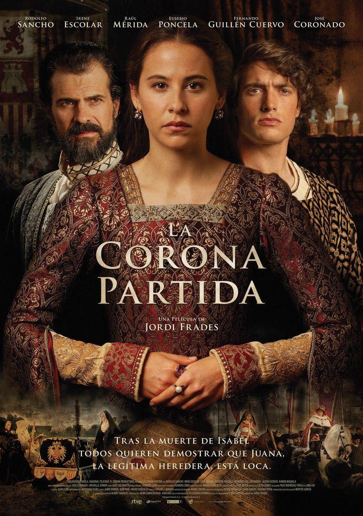 Cartel España de 'La corona partida'. APPA: Hernán Miller (representante de Eusebio Poncela)
