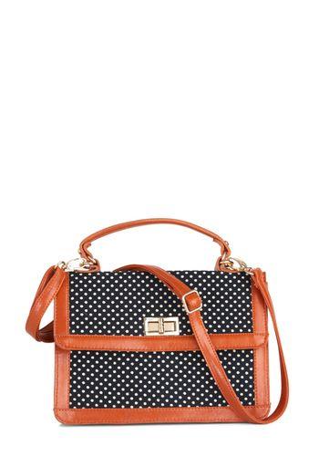 On the Polka Dot Bag | Mod Retro Vintage Bags | ModCloth.com