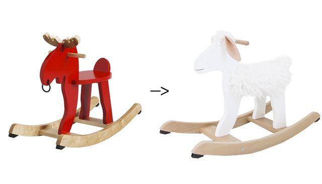 DIY rocking horse (sheep) ikea hack // sarah sherman samuel