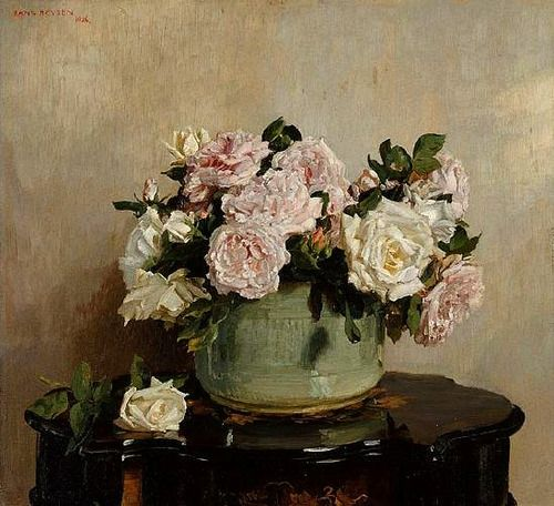 Hans Heysen  A Bowl of Flowers  1925
