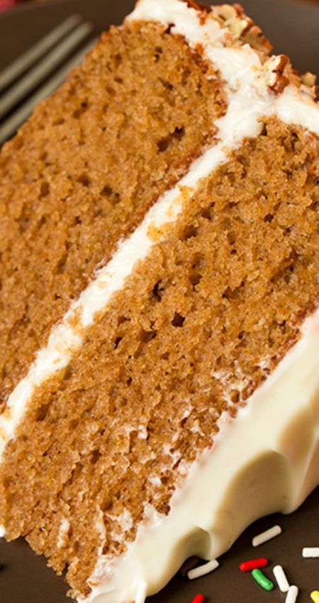 Autumn Spice Cake with Cream Cheese Frosting Recipe ~ It's amazing