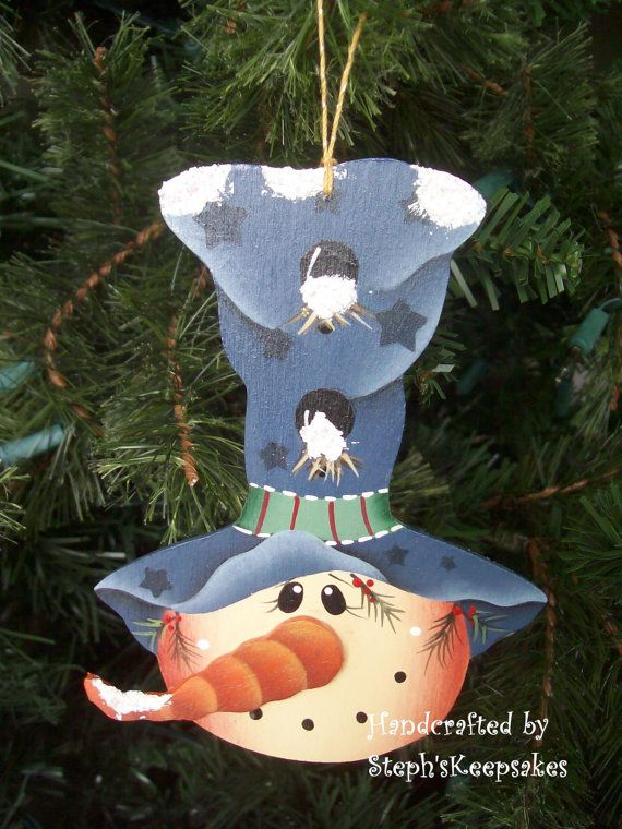 Snowmen Ornament Set Seasonal Holidays por stephskeepsakes en Etsy
