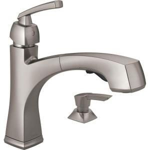 Delta Montauk Single-Handle Pull-Out Sprayer Kitchen Faucet with Soap ...