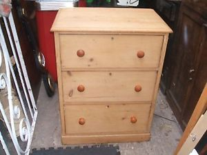 VICTORIAN PINE CHEST OF DRAWERS,CUTE SIZE,COTTAGE ETC | eBay