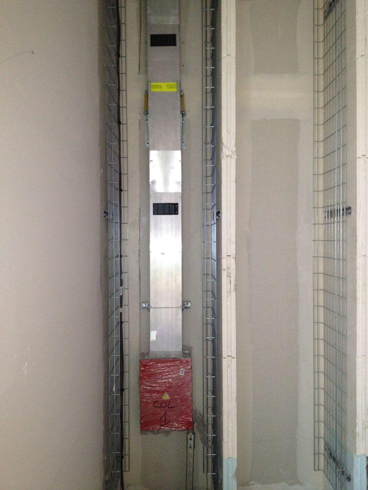 GDA busbar in vertical riser for an hospital in France