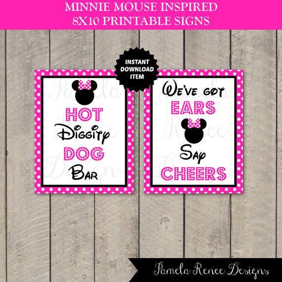 INSTANT DOWNLOAD Printable 8x10 Pink Minnie by PamelaReneeDesigns, $6.00