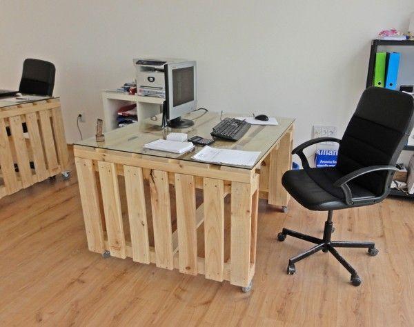 Burotoli02 600x474 Office from pallets for Negociant wine expert