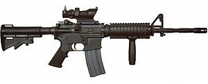 M4A1 Carbine (I didn't really like the weapon system. But, that's what we had.)