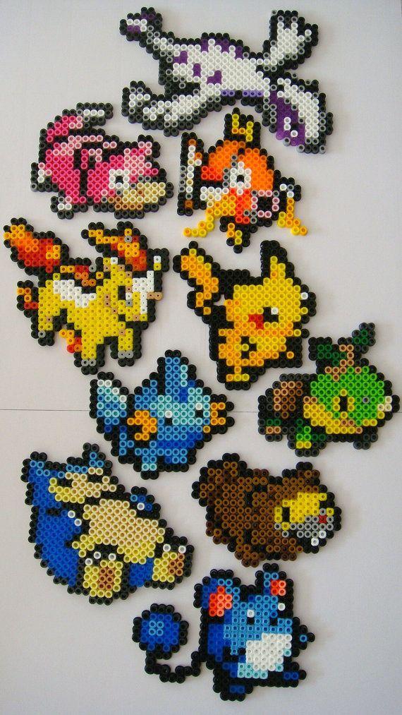 Pokemon perler magnets #perler #pokemon #craft #diy