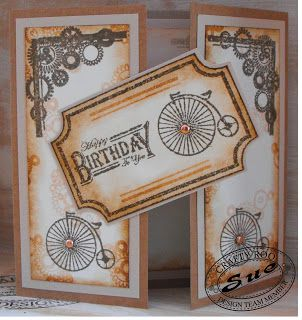 A fabulous handmade card for any bloke made using stamps from Crafty Roo Designs