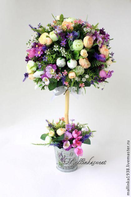 """Топиарий, дерево счастья """"Лавандовый писк"""" - фиолетовый,топиарий,интер"""