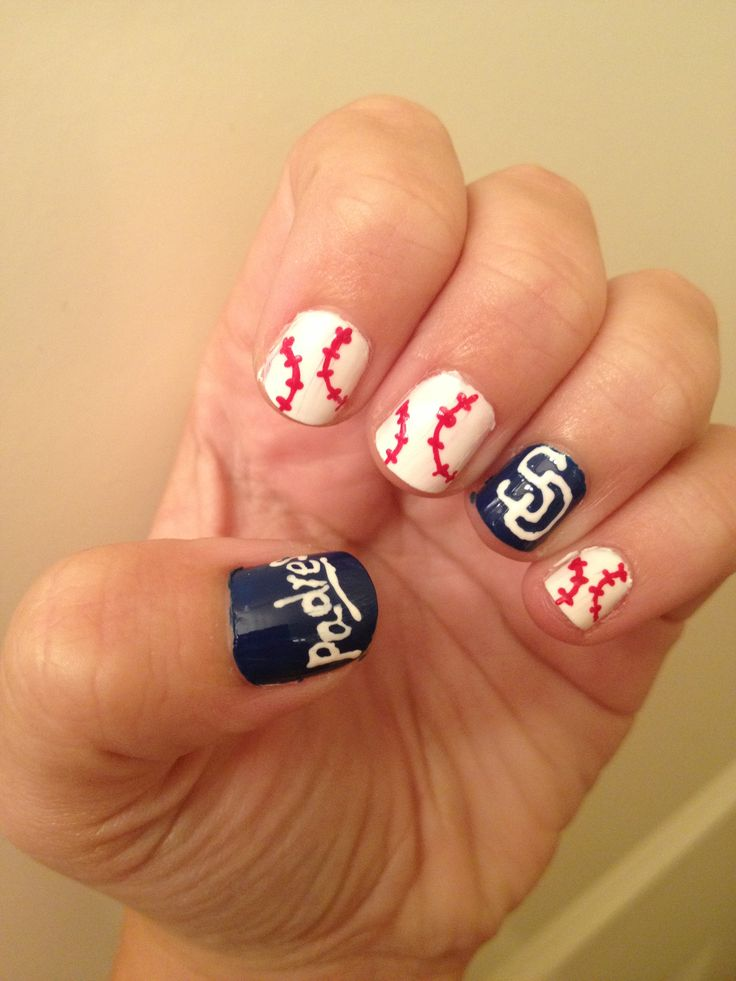 15 best San Diego Padres Nails, Hair and Makeup images on Pinterest ...