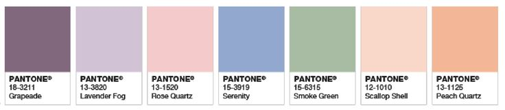 Pantone Pastels.
