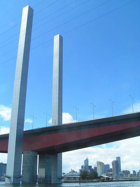 Bolte Bridge and Melbourne Skyline by Matthew Tulett, via Flickr