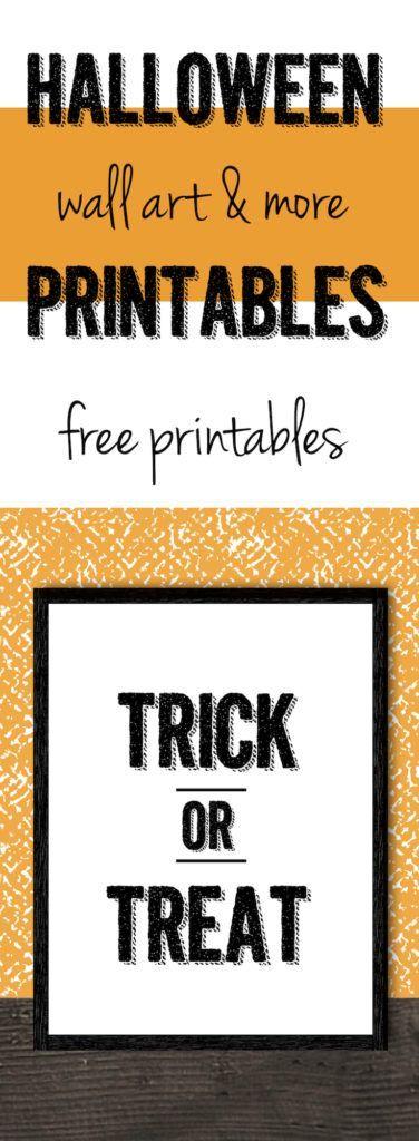 halloween trick or treat free printable - Halloween Trick Ideas