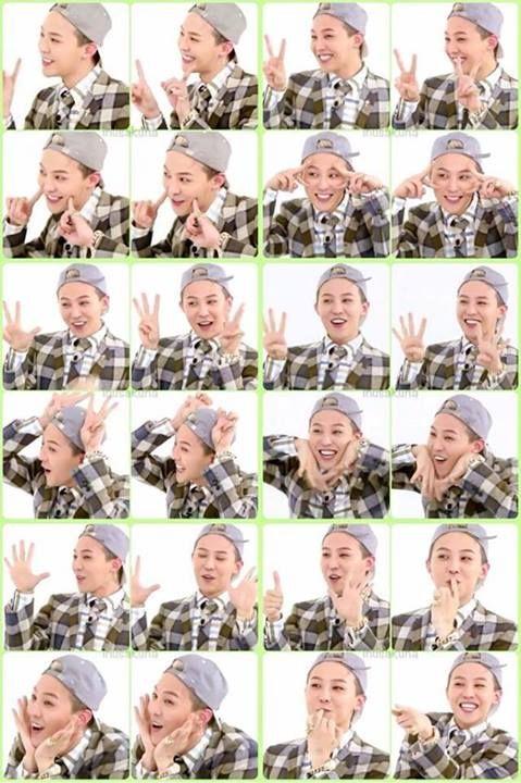 GD doing Gwiyomi on weekly idol <3 ( too cute :3 )