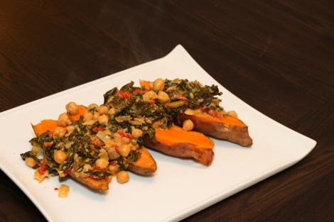 Braised Coconut & Chickpeas with Spinach - Wild Rose Detox (D-Tox) [gluten-free, egg-free, peanut-free, dairy-free]