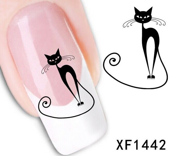 Find More Stickers & Decals Information about Water Transfer Nail Art Stickers Decal Beauty Sexy Wild Black Cats Design Decorative DIY French Manicure Foils Stamping Tools,High Quality manicure implements,China manicure care Suppliers, Cheap tool granite from ColorArt Co. LTD on Aliexpress.com