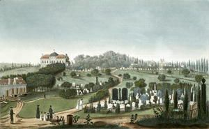 View of Pere Lachaise Cemetery from the Entrance, 1815  Pierre (after) Courvoisier