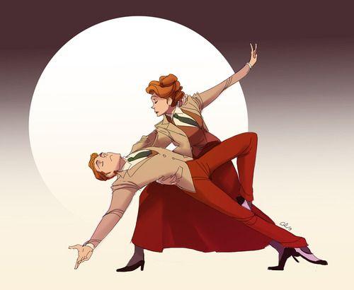 Lutece dance…  Art by chirart.deviantart.com