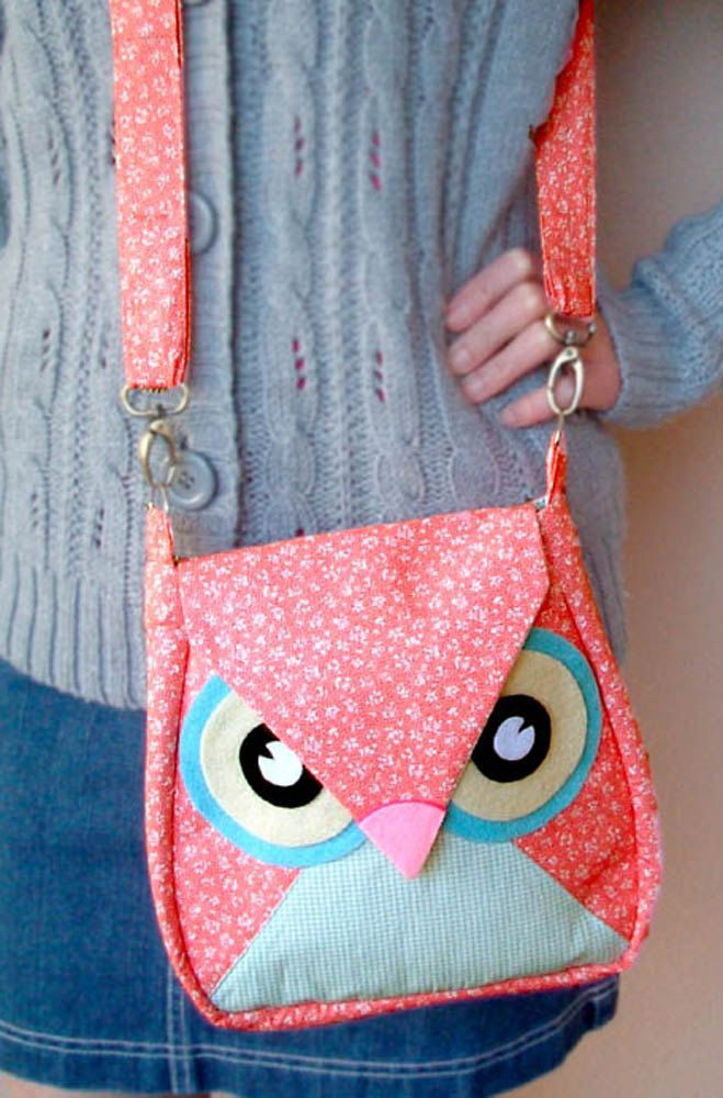 10.5% OFF Sakura: Pink Flip Owl Bag, messenger bag, tote, animal, women, kid bag, children bag, fabric bag, girl bag, boy bag. $34.00, via Etsy.