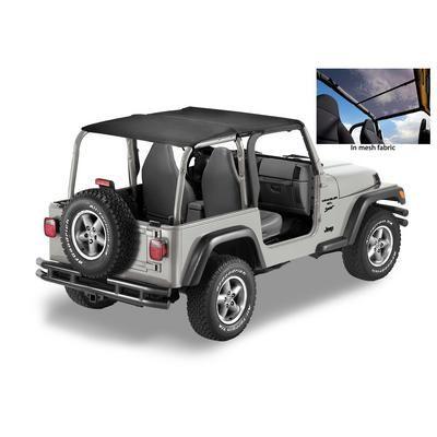 Bestop Header Safari Style Jeep Wrangler Bikini Top in Mesh 52532-11: Bestop Bikini Soft Top (Black… #AutoParts #CarParts #Cars #Automobiles