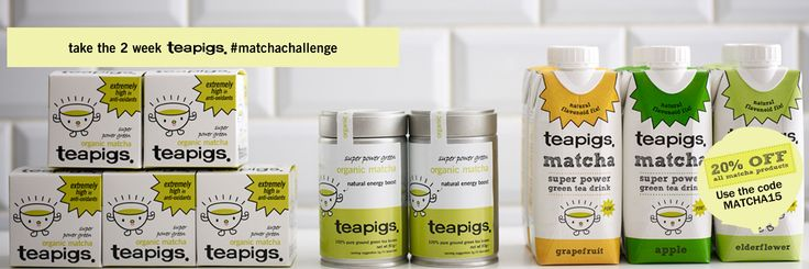 20% off all matcha products this January! Enter the code MATCHA15 at the checkout http://www.teapigs.co.uk/tea/shop_by_category/matcha_shop