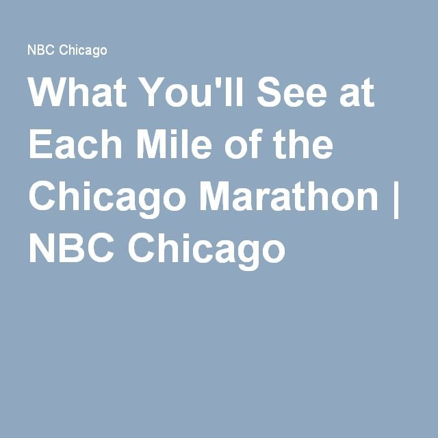 What You'll See at Each Mile of the Chicago Marathon | NBC Chicago