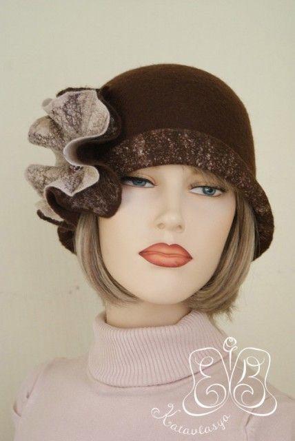 a beautiful handmade hat. Katerina Vlasova, Russia. Валяние не дурака :) Катерина Власова