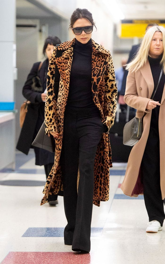 Victoria Beckham leopard coat. Victoria Beckham leopard coat Celebrity  Outfits 06ff2ad16