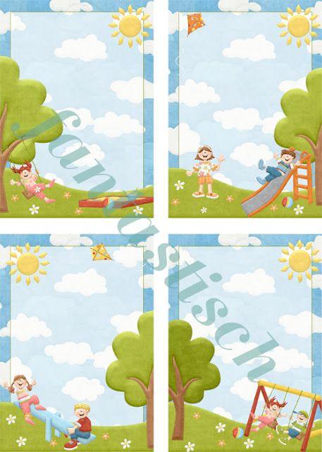 Портфолио для детского садика и школы: Шаблоны для оформления Дети летом