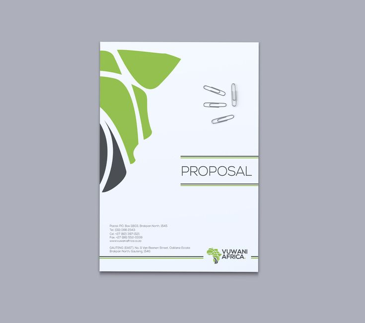 proposal cover designs - Google Search
