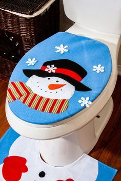 Resultado de imagen para pinterest juegos de baño navideños moldes gratis