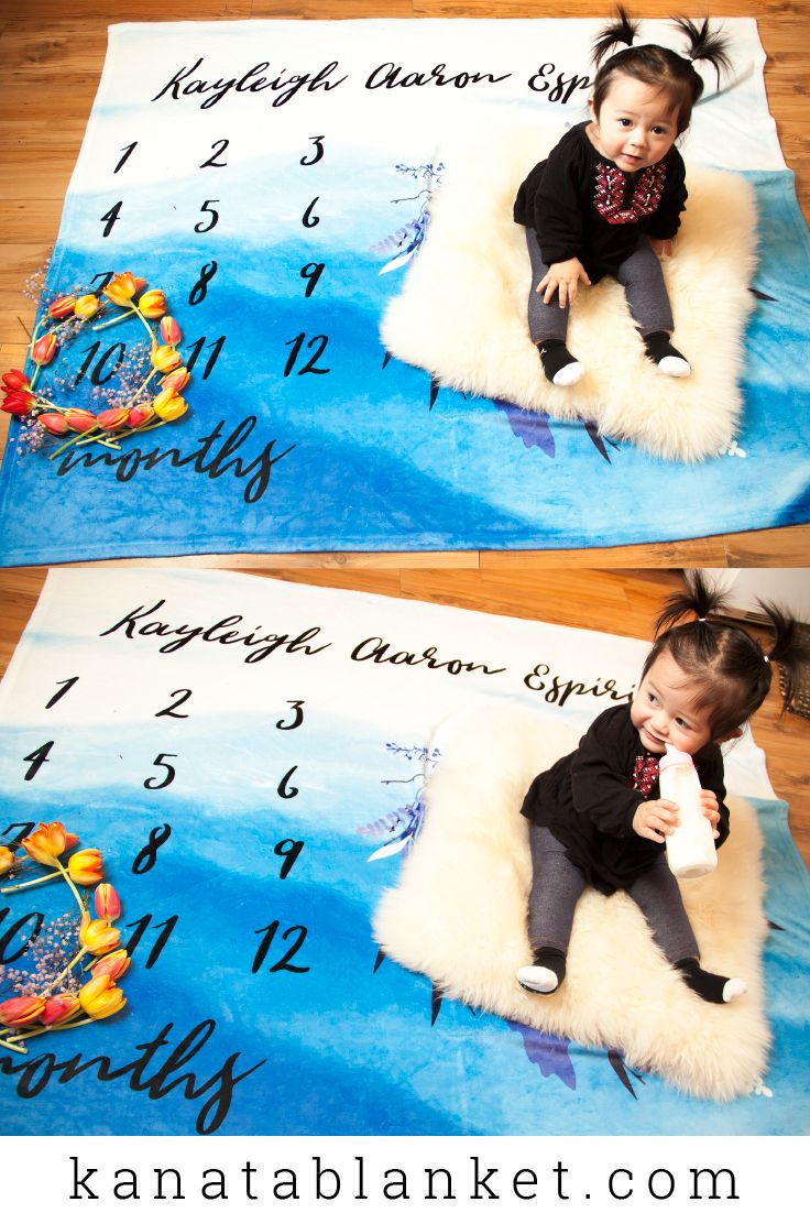 Kanata Blanket carries a selection of graphic baby blankets, ready to be personalized with your baby's name. For more, follow us @kanatablanket