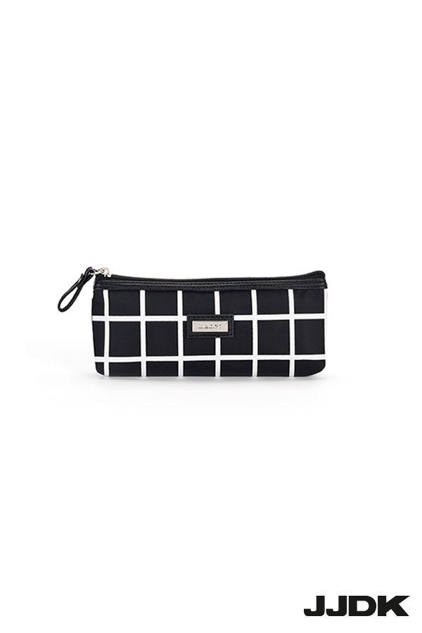 JJDK Kleopatra cosmetic purse - Black and white squares #cosmeticpurse #kosmetikpung