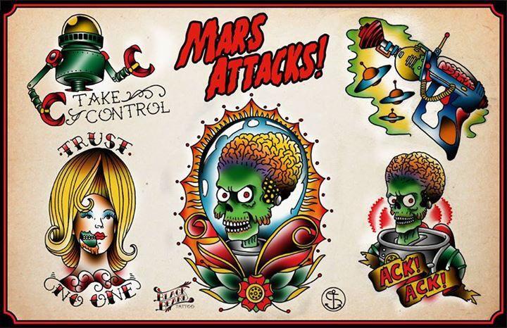 MARS ATTACK! Tattoo flash
