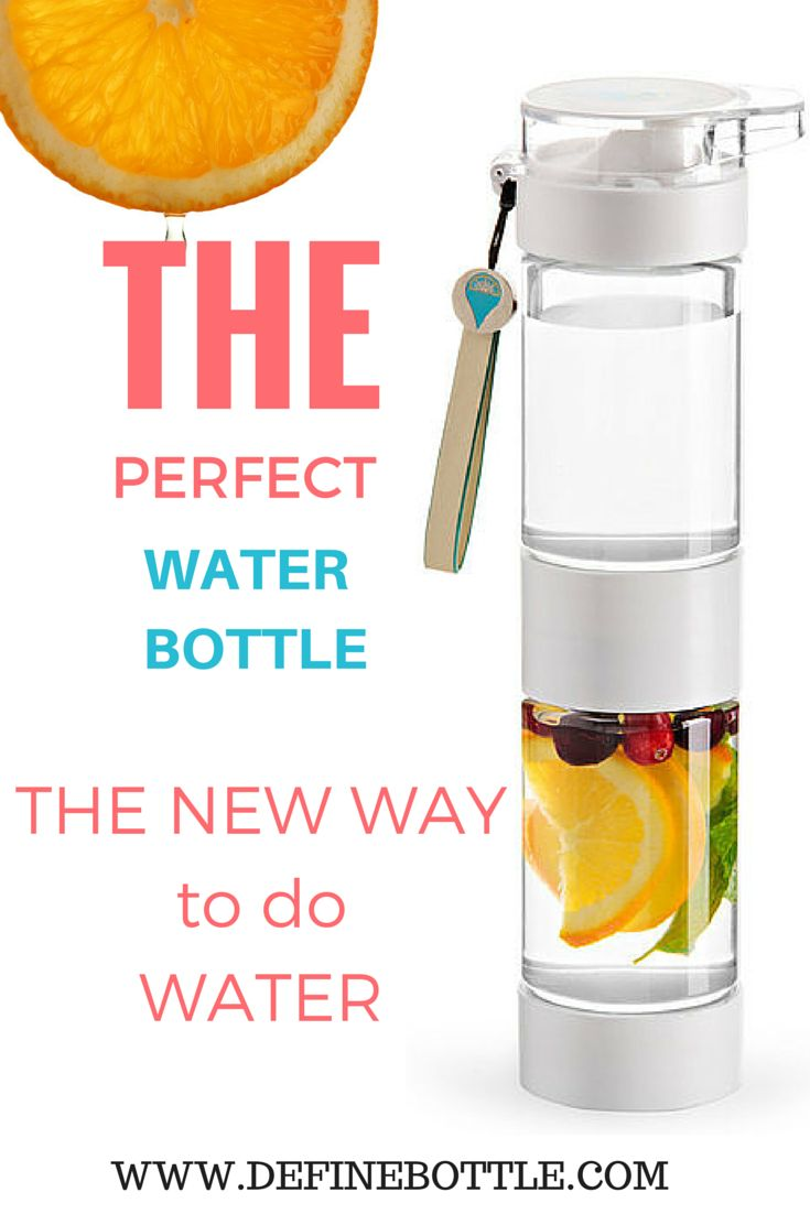 The perfect way to keep hydrated in style this summer. Define Bottle is an eco-chic fruit infused water bottle to take on the go. Easy to use and easy to clean! 10% off with code: pinterest through June 2015