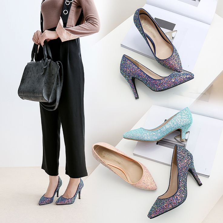 Grande taille 33 41 rose/bleu/violet chaussures simples demoiselle d'honneur de mariée chaussures de mariage robe chaussures 5 cm/7 cm/9 cm à talons hauts parti chaussures dans Pompes de femmes de Chaussures sur AliExpress.com | Alibaba Group