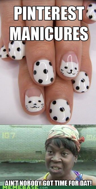 The truth about Pinterest manicures.