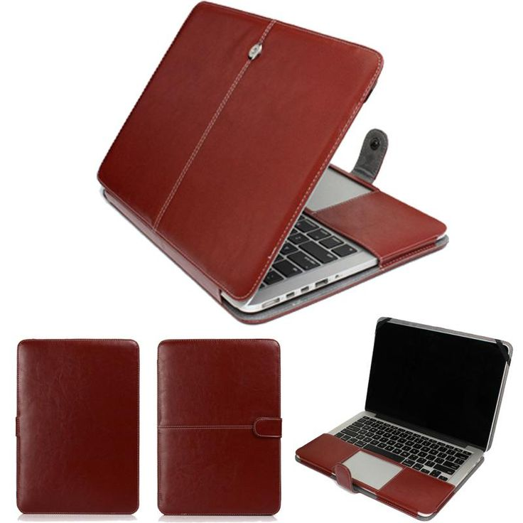 [Visit to Buy] Hot sale Business Smart Holster PU leather Laptop Sleeve Bag Case Cover for MacBook Air 11 12 13 Pro Retian 13 15 Capa Para #Advertisement