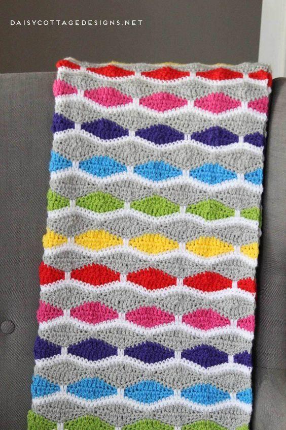 Crochet Blanket Pattern A Bright Fun Free Crochet Pattern