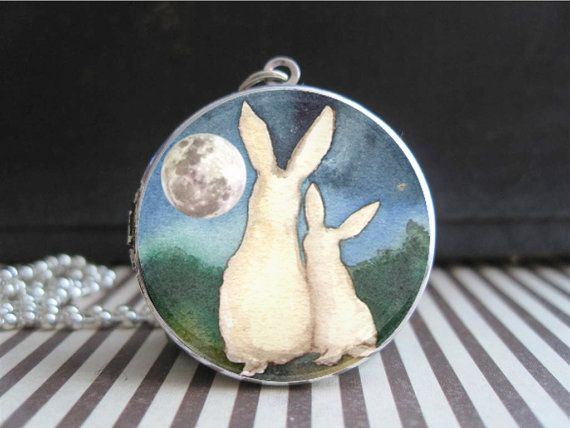 "I would love to have one of these with my sons pictures inside... yes it opens and says ""I Love You to The Moon and Back""!!!! Necklace Mothers by EverAndAnon, $35.00"