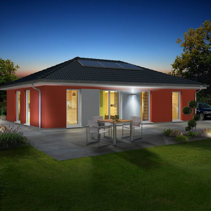 Stufenlos glücklich, zum Beispiel im #Bungalow 110. Mehr Infos und Grundrisse: http://www.hausausstellung.de/bungalow110-massivhaus.html