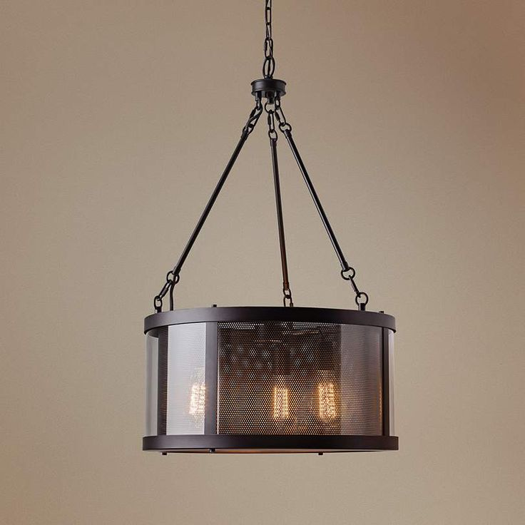 "Feiss Bluffton 20"" Wide Oil-Rubbed Bronze Pendant Light - #6K571 